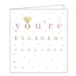 Proper Mail you're engaged congratulations card Nickery Nook