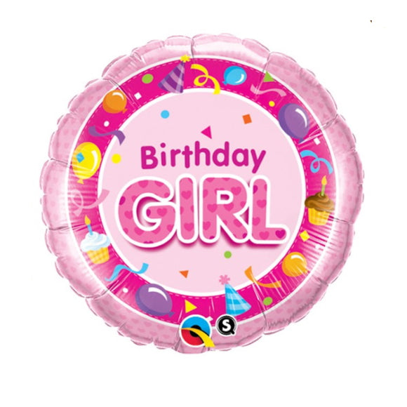 Qualatex birthday girl helium balloon