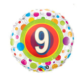 9th Birthday Helium Balloons - Various Designs