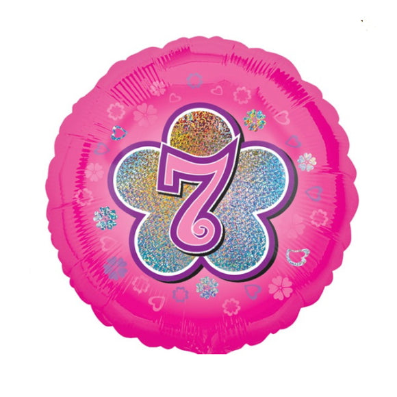 7th Birthday Helium Balloons - Various Designs
