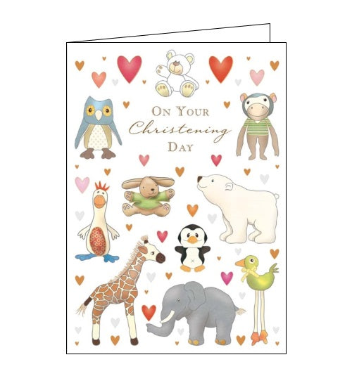 Quire Christening cards on your Christening day cute congratulations Nickery Nook