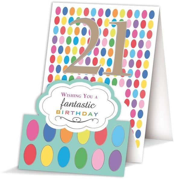 Quire Numero 21 21st Birthday Card Nickery Nook
