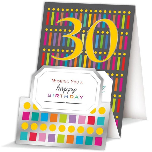 Quire Happy 30th Birthday 30th birthday card Nickery Nook