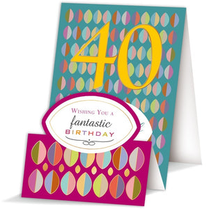 Quire Happy 40th Birthday 40th birthday card Nickery Nook