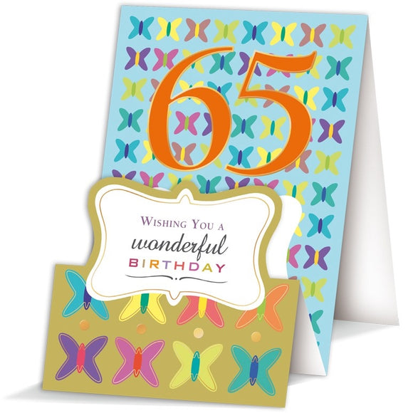 Quire Happy 65th Birthday 65th birthday card Nickery Nook
