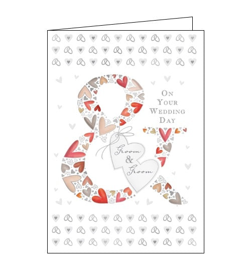 Quire Wedding Day cards on your wedding day Mr and Mr groom and groom card congratulations Nickery Nook