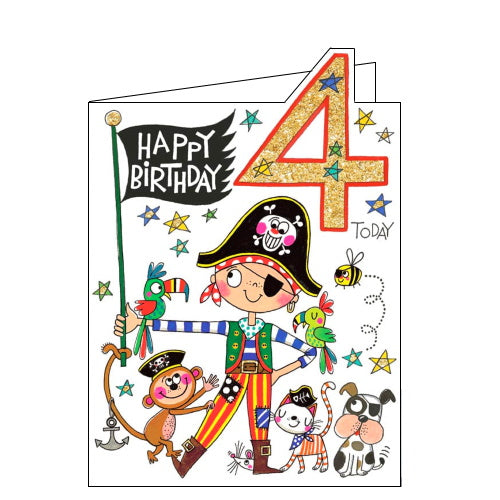 Rachel Ellen pirate 4th birthday card