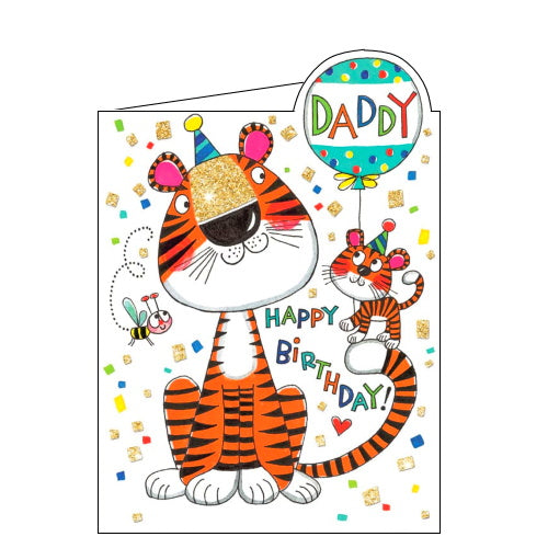Rachel Ellen tiger daddy birthday card for daddy