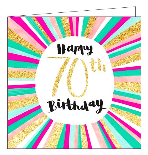 Rachel Ellen 70 today happy 70th Birthday card Nickery Nook