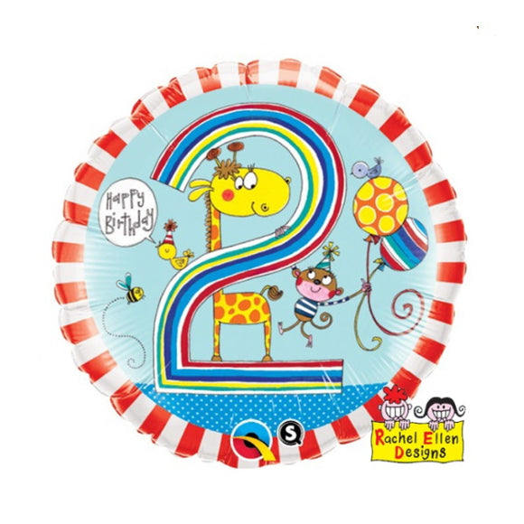 2nd Birthday Helium Balloons - Various Designs