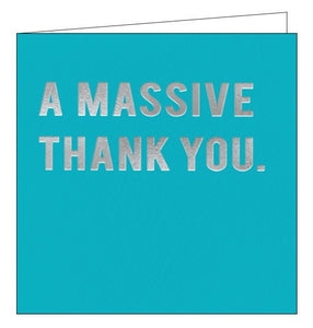 Redback Cloud Nine a massive thank you card