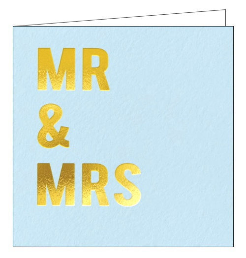 Redback Cloud Nine mr & mrs wedding card