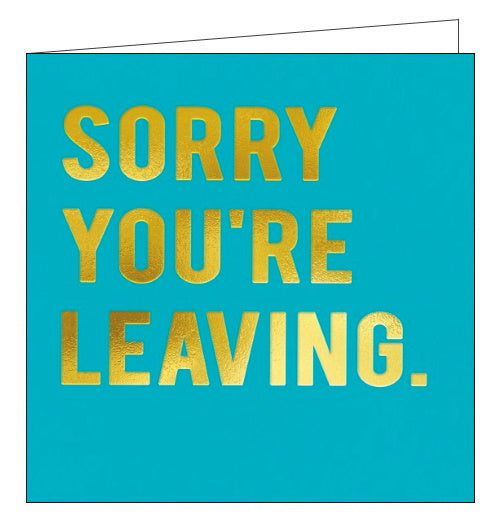 Redback Cloud Nine sorry you're leaving card