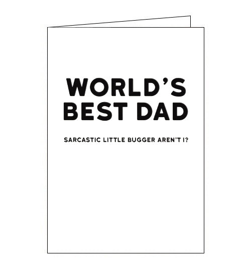 Redback Holy Flaps sarcastic worlds best dad birthday card