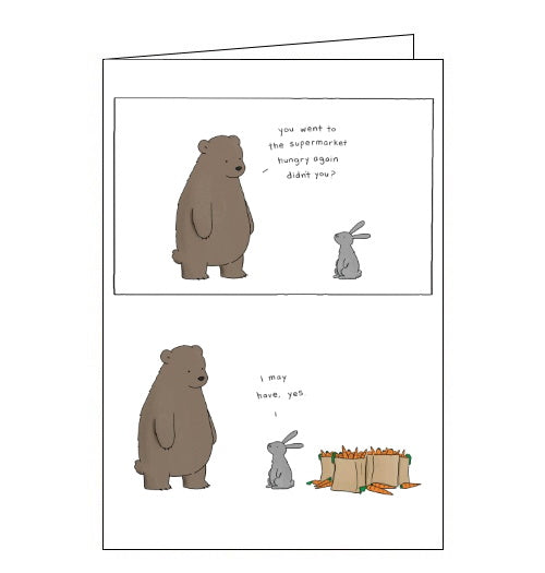 Redback Liz Climo go to the supermarket hungry blank card Nickery Nook