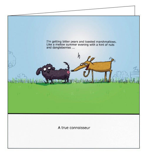 Redback Wulffmorgenthaler dogs a true connoisseur funny card