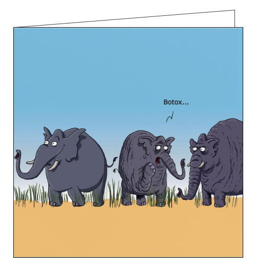 Redback Wulffmorgenthaler elephants with botox funny card