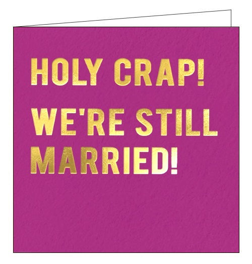 Redback Cloud Nine holy crap we're still married anniversary card Nickery Nook