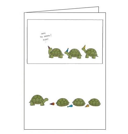 Redback Liz Climo hide suprise party tortoise blank card Nickery Nook