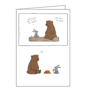 Redback Liz Climo whats for dinner blank card Nickery Nook