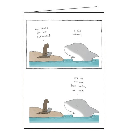 Redback Liz Climo wifi password i eat otters blank card Nickery Nook