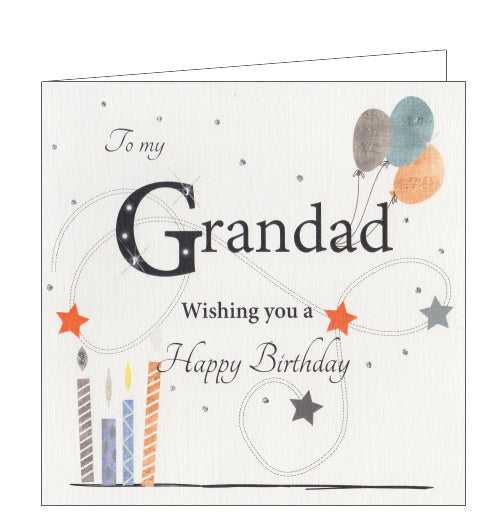 Rush by Lorraine Everything Sparkles birthday card for grandad