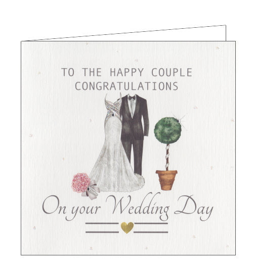 Rush by Lorraine bride and groom wedding card