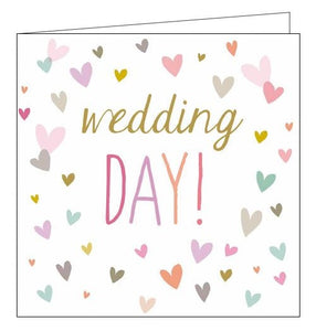 Sara Miller The Big Day hearts Congratulations on your wedding day card Nickery Nook front
