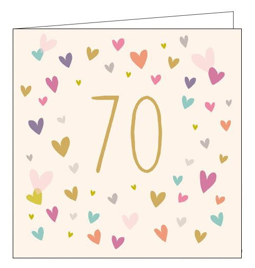 Sara Miller love hearts on your 70th birthday card Nickery Nook