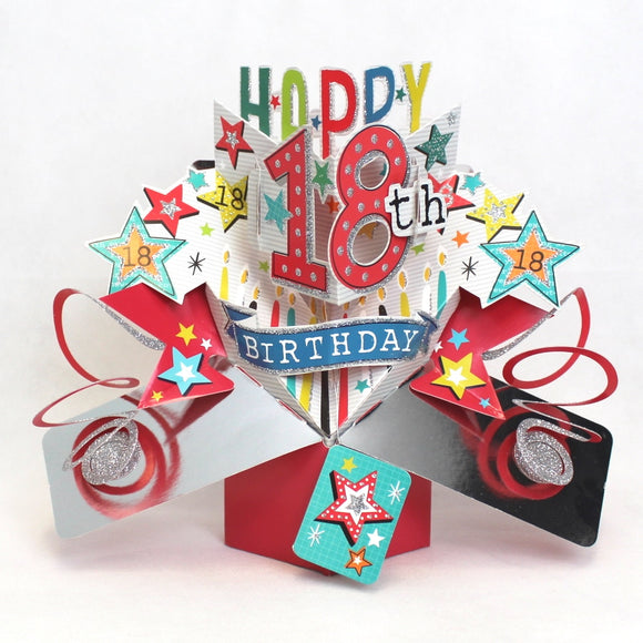 Second Nature Pop up cards 18th birthday 3d card Nickery Nook