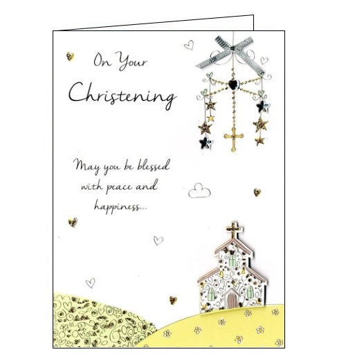 Second Nature congratulations on your christening religious new baby card Nickery Nook