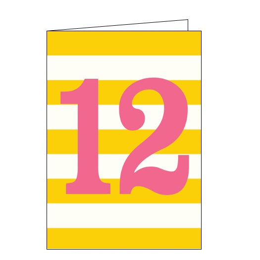 Think of Me ink 12th birthday happy 12th birthday 12 today birthday cards Nickery Nook