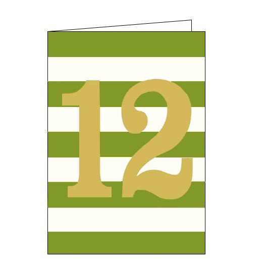 Think of Me ink 12th birthday happy 12th birthday 12 today birthday cards green Nickery Nook