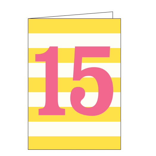 Think of Me 15 today 15th birthday card pink