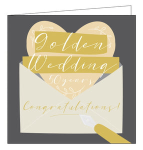Think of Me 50th wedding anniversary card golden wedding anniversary card