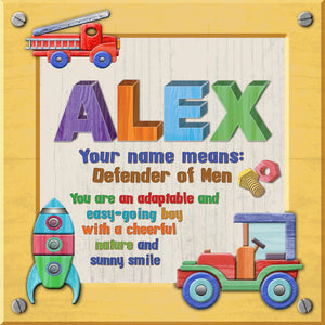 Tidybirds name meanings name definition plaque for kids ALEX Nickery Nook