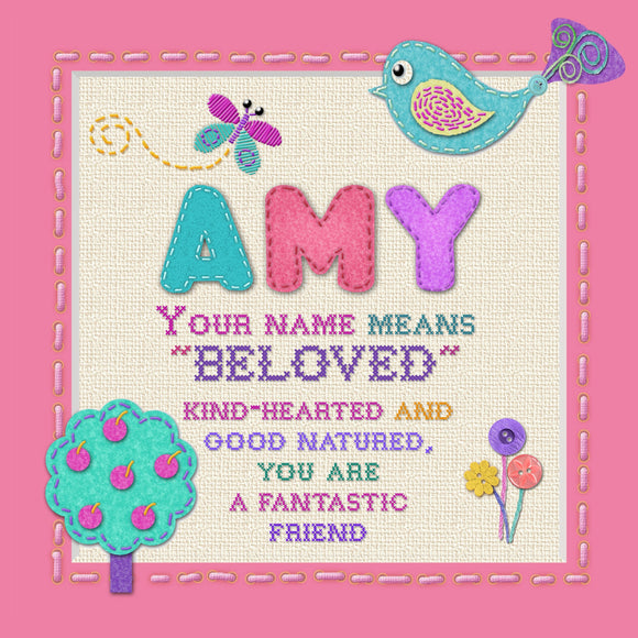 Tidybirds name meanings name definition plaque for kids AMY Nickery Nook