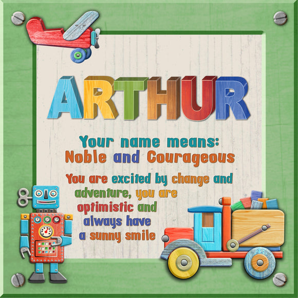 Tidybirds name meanings name definition plaque for kids ARTHUR Nickery Nook