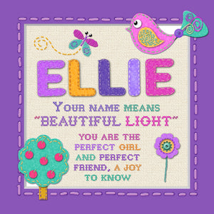 Tidybirds name meanings name definition plaque for kids ELLIE Nickery Nook