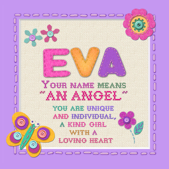 Tidybirds name meanings name definition plaque for kids EVA  Nickery Nook