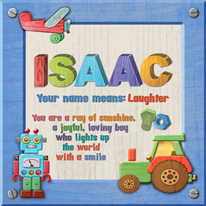 Tidybirds name meanings name definition plaque for kids ISAAC Nickery Nook