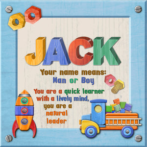 Tidybirds name meanings name definition plaque for kids JACK Nickery Nook