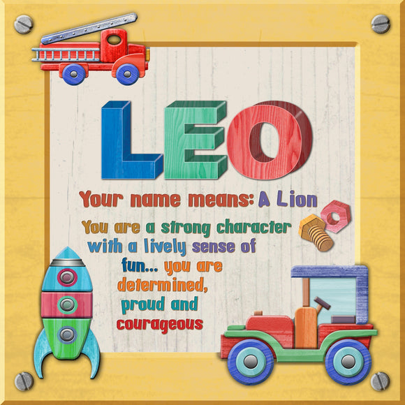 Tidybirds name meanings name definition plaque for kids LEO Nickery Nook