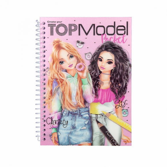 Pocket Colouring Book - Top Model
