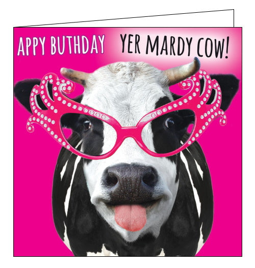 Tracks northern humour mardy cow birthday card