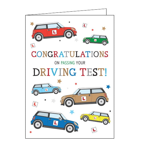 Tracks congratulations on passing your driving test card