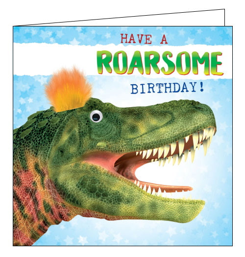 Tracks dinosaur roarsome birthday card