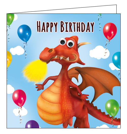 Tracks dragon birthday card