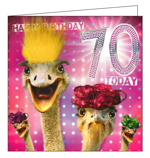 Tracks fabulous 70th birthday card