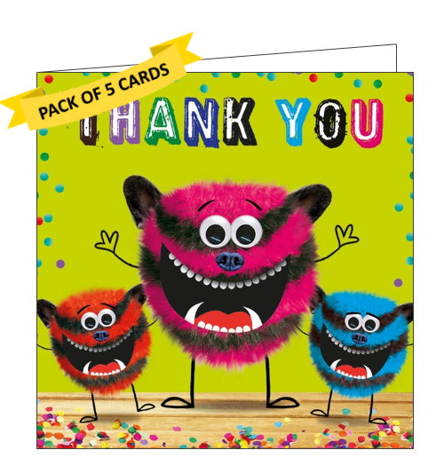 Tracks publishing pack of monster thank you cards kids